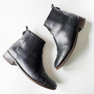 Tory Burch Leather Chelsea Western Ankle Boots